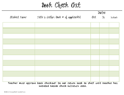 Teachers Initial beside the return date, easy to manage, Cover Page