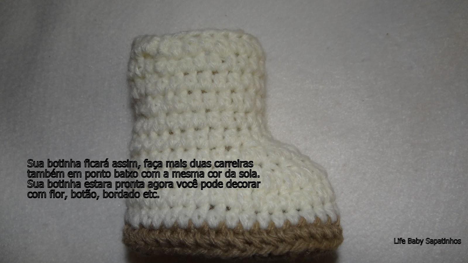 пинетки сапожки схема вязания