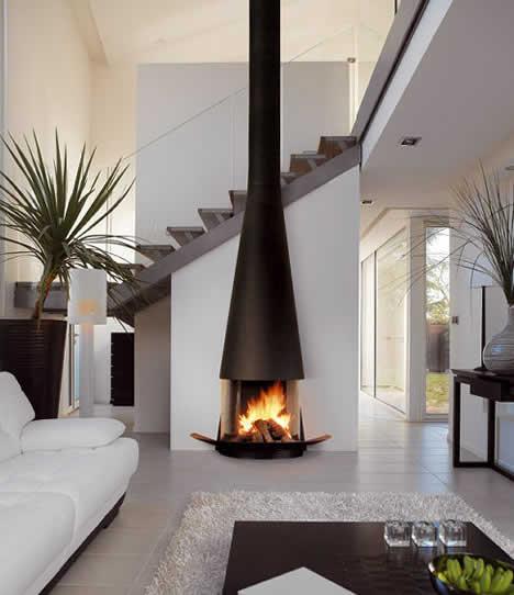 Kominki nowoczesne aktualno ci i porady - Interactive home interior decor with various modern stone fireplace ...
