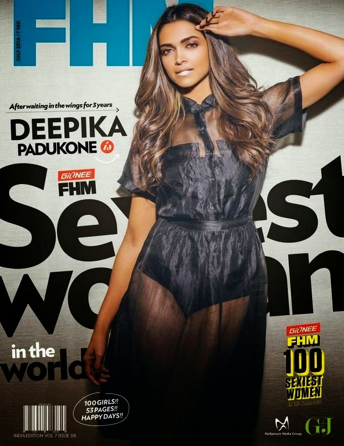 Deepika Padukone hot transparent photo shoot for FHM july 14