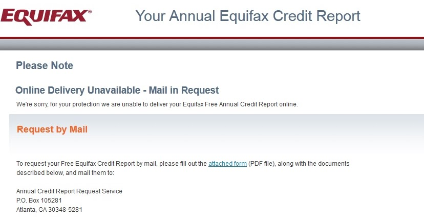 My Equifax Free Credit Report FAIL Free By 8