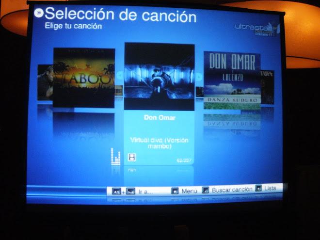 Letras de canciones y videos en pantalla gigante