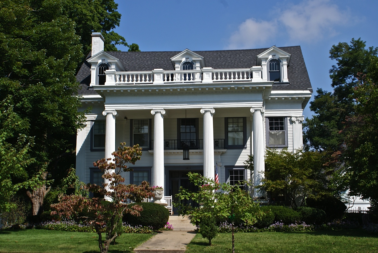 Greek revival architecture in illinois for Revival home