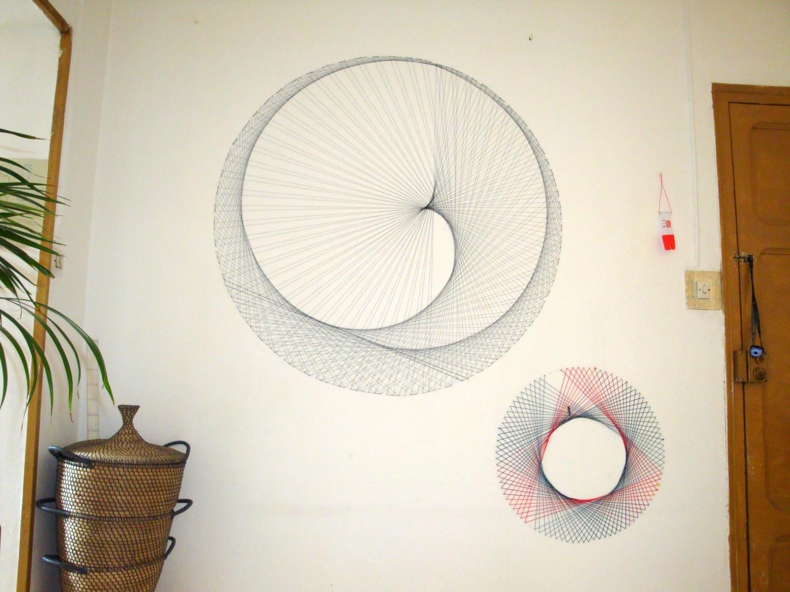 Oly ria string art o arte de hilo tensado - Clavos para pared ...