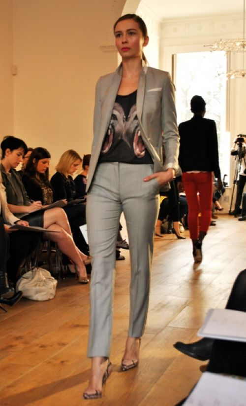 the kooples grey trouser suit