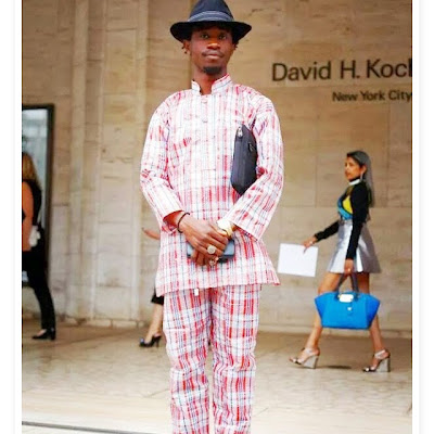Man wearing Ghana must go as an outfit