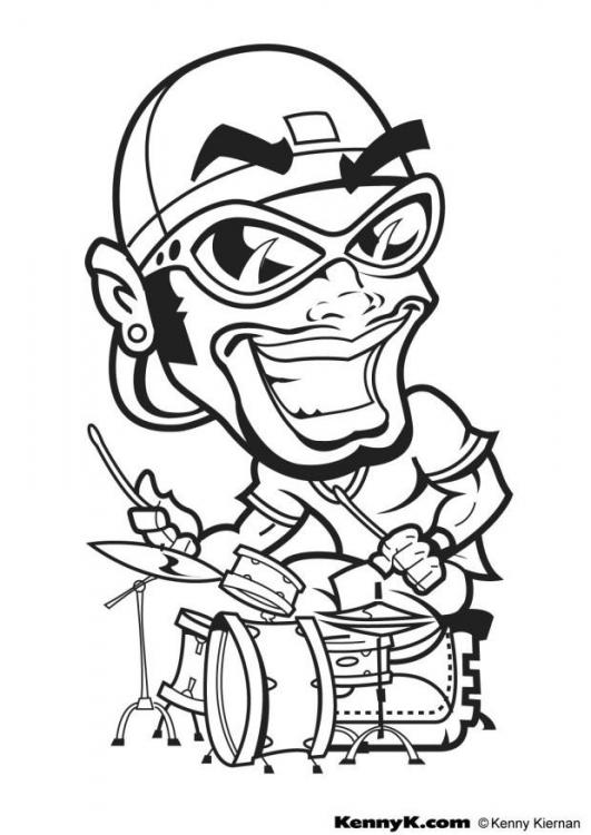for Hip hop coloring pages