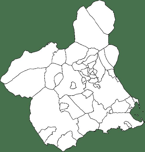 Mapa mudo de Murcia para imprimir