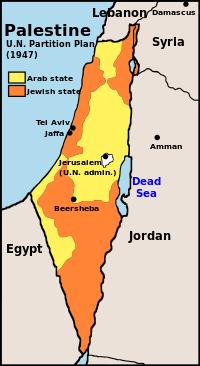 Gambar: Partisi Israel dan Palestina oleh PBB 1947