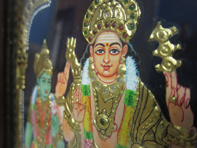 Detailing of Tanjore Painting