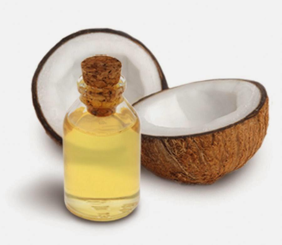 Óleo de coco extra virgem e açúcar