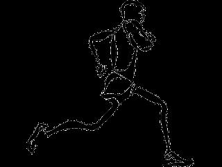 Silueta de corredor de maratones
