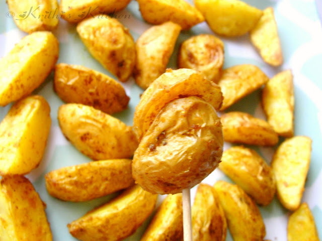 Krithi s kitchen indian style oven roasted baby potatoes indian