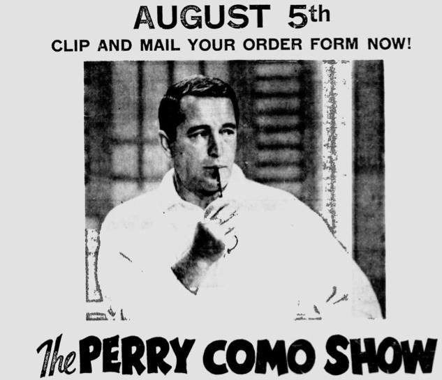 perry como christmas 1940s - Perry Como Christmas Show
