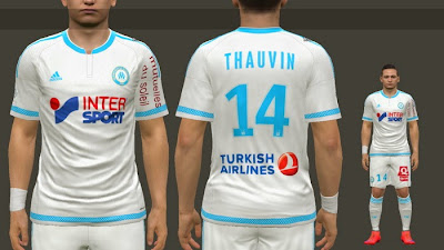 PES 2015 Olympique de Marseille 2015-16 Home Kits by MoHaMmAd