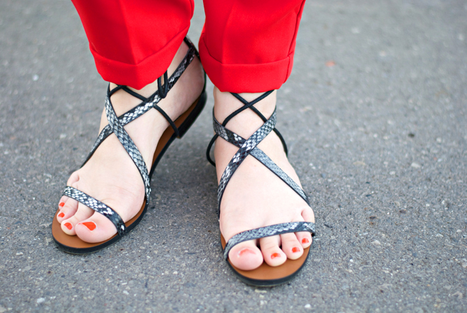 Mango strap up gladiator sandals black snakeskin