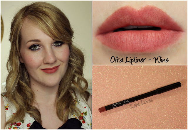 Ofra Wine lip liner swatch