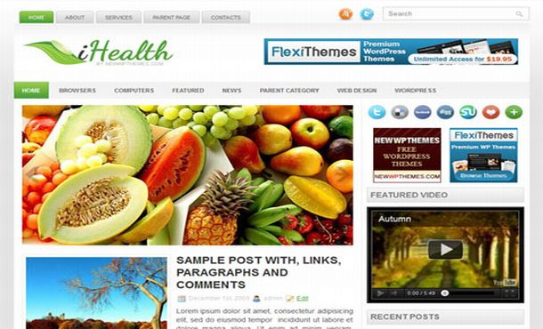 Free Health Jquery Magazine Blogger Template