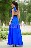 Rochie lunga de seara albastru electric