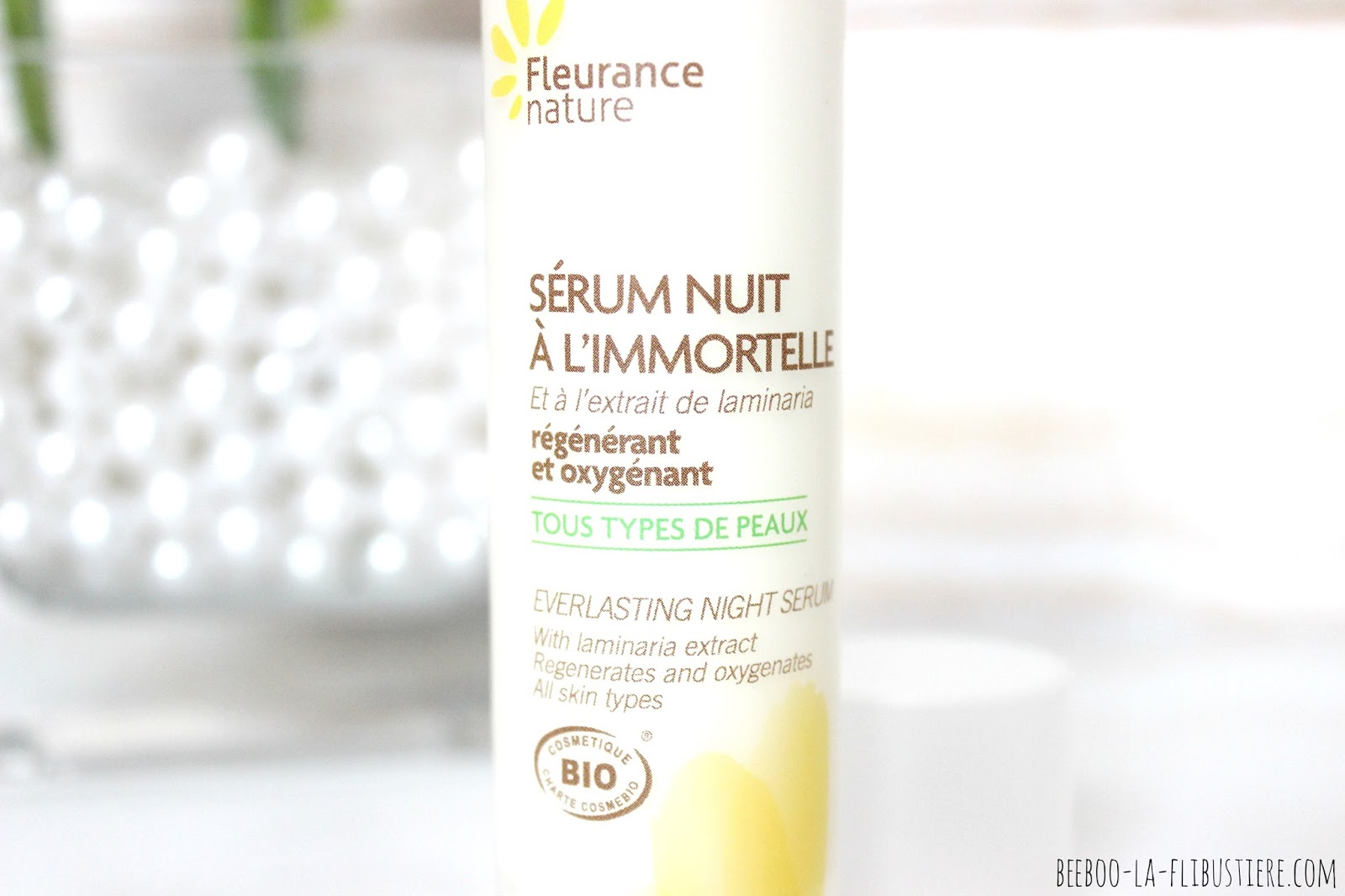 sérum nuit à l'immortelle fleurance nature