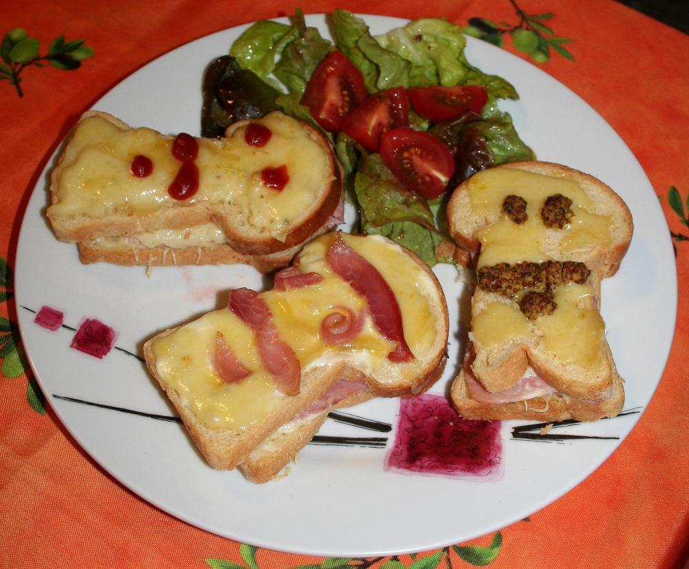 Croque monsieur au four cc cuisine - Croque monsieur au four bechamel ...