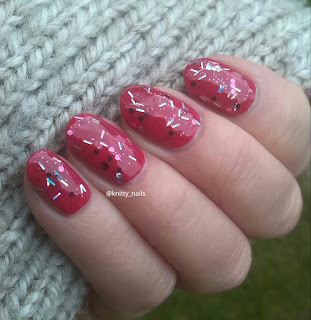 Barry M Pink Sapphire Glitter and  Nails Inc Notting Hill Carnival