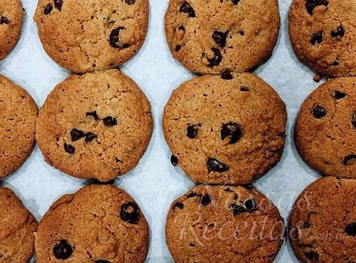 Receita de Biscoito de baunilha preparado com chip de chocolate