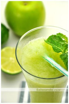 Granizado instantáneo de manzana verde y lima