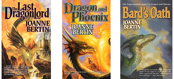 Dragonlord series covers by Joanne Bertin