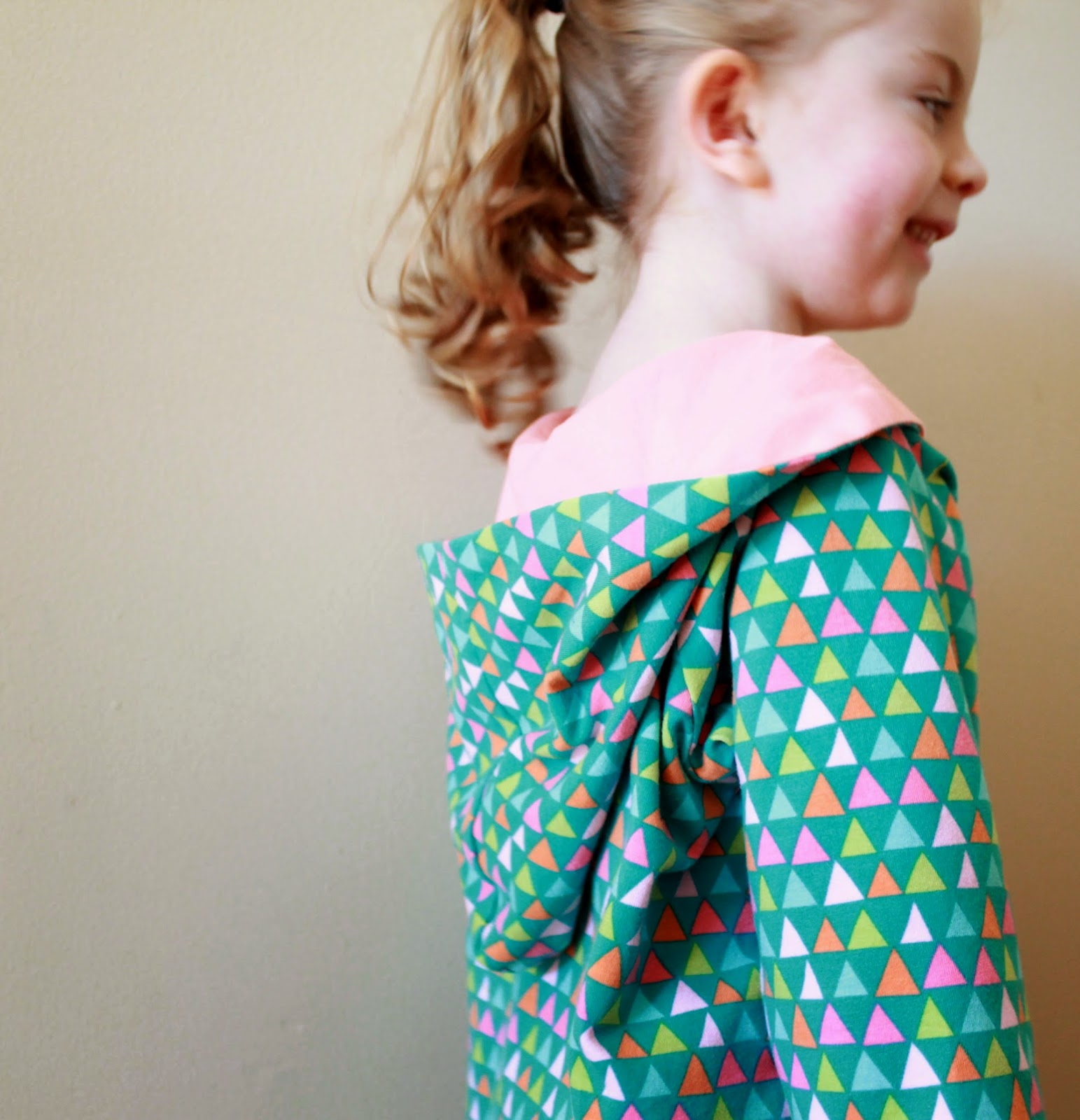 Sewing from Happy Homemade, Volume 2: Sew Chic Kids -- The Pull Over Parka (Pattern S) in Knit | The Inspired Wren