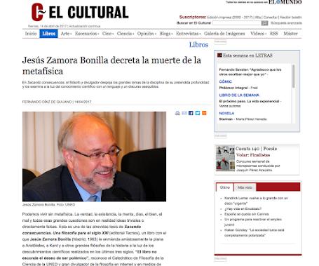 """Entrevista en """"El Cultural"""""""