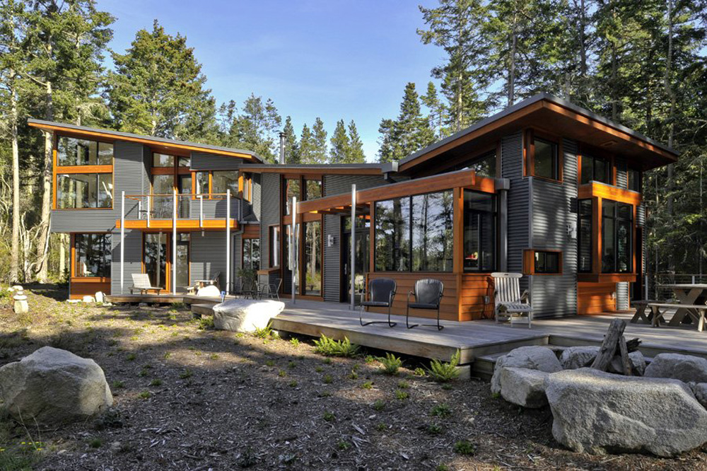 Modern House In The Forest Tranquil Forest House With A