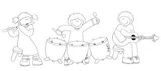 Grupo musical para colorear