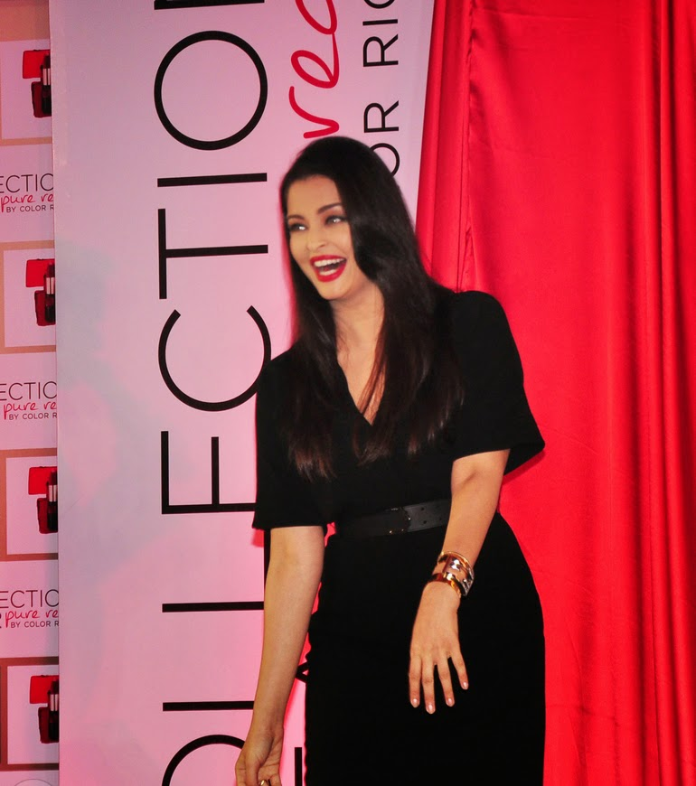 Aishwarya Rai launches Moist Matte Collection Pure Reds lipsticks Stills