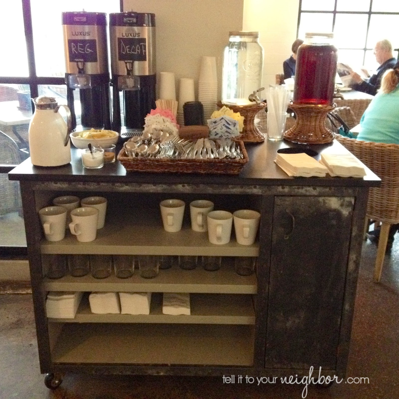 Tell it to your neighbor coffee cart at home for Coffee bar station