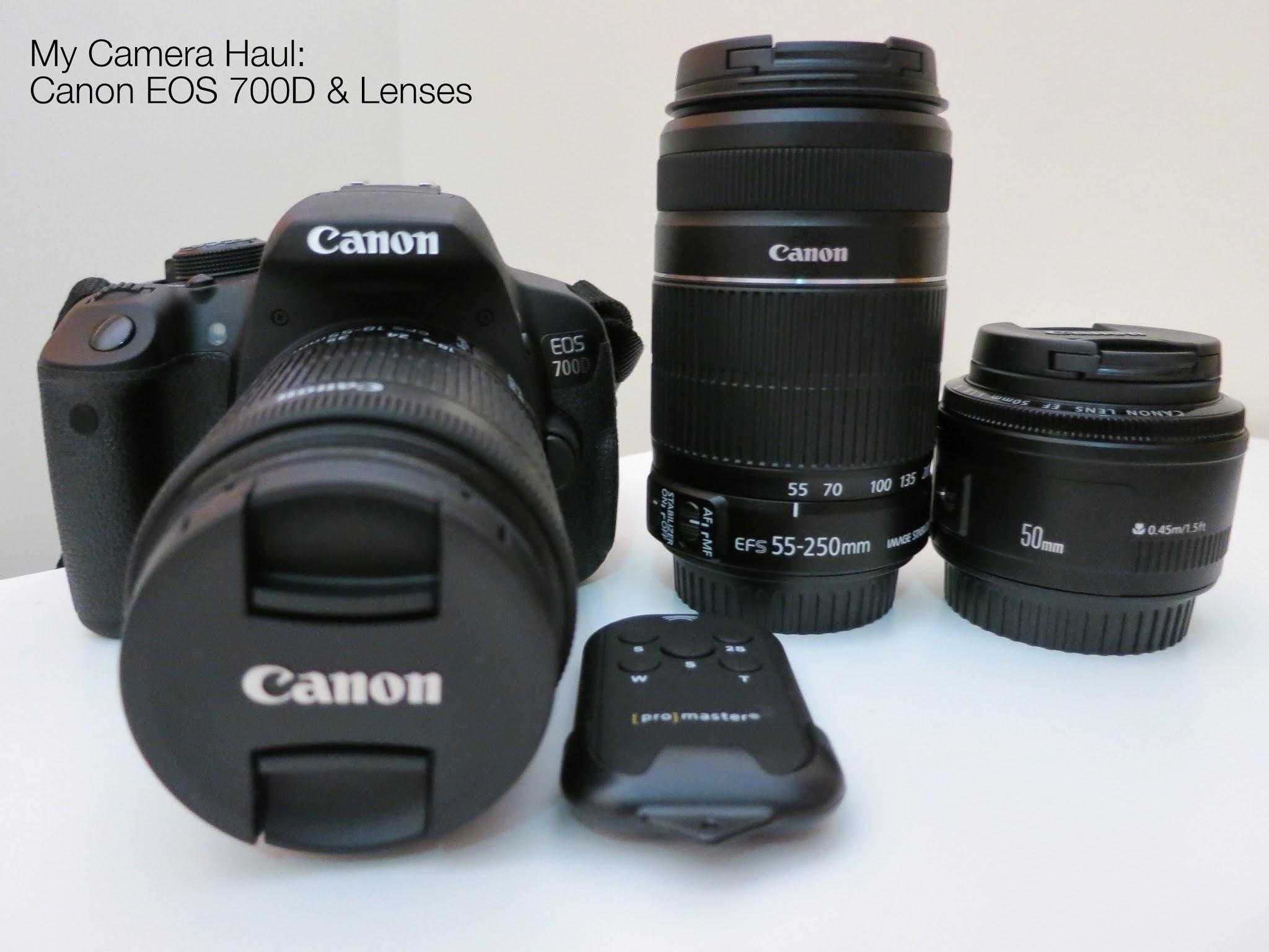 DSLR camera haul, canon eos 700d, canon rebel t5i, lenses, blogger photography haul, blogger camera haul