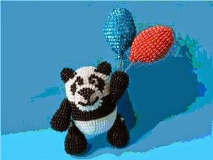 Панда из бисера