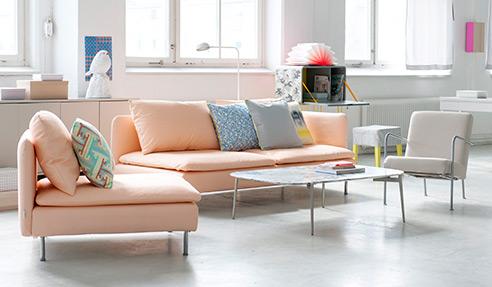 Ikea ektorp voetbank kussens grijs te koop dehands be