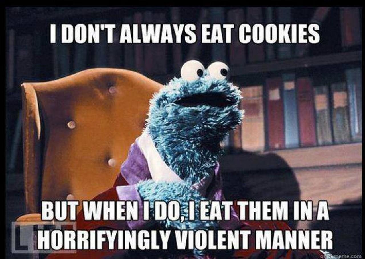Cookie monster in porn hardcore slut