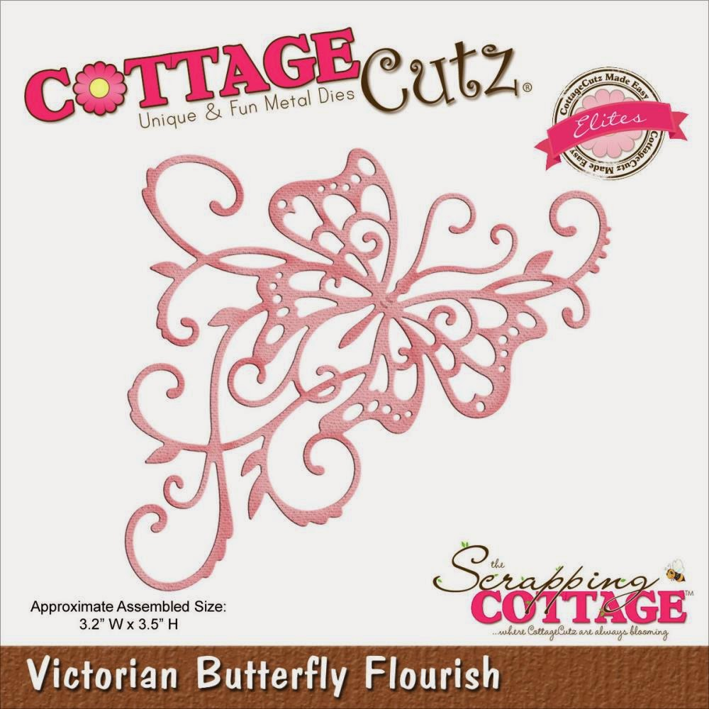 Victorian Butterfly flourish die from COTTAGECUTZ