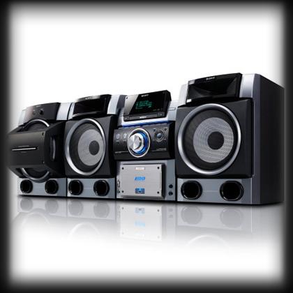 CD, TUNER (radio) AUDIO, VIDEO, USB y HDD (disco duro)