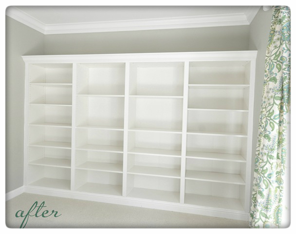 Billy Bookcase Built Ins 608 x 480