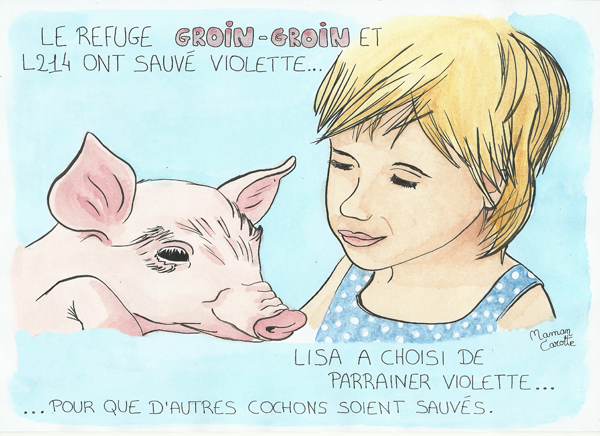 Parrainer un cochon au refuge GROIN-GROIN