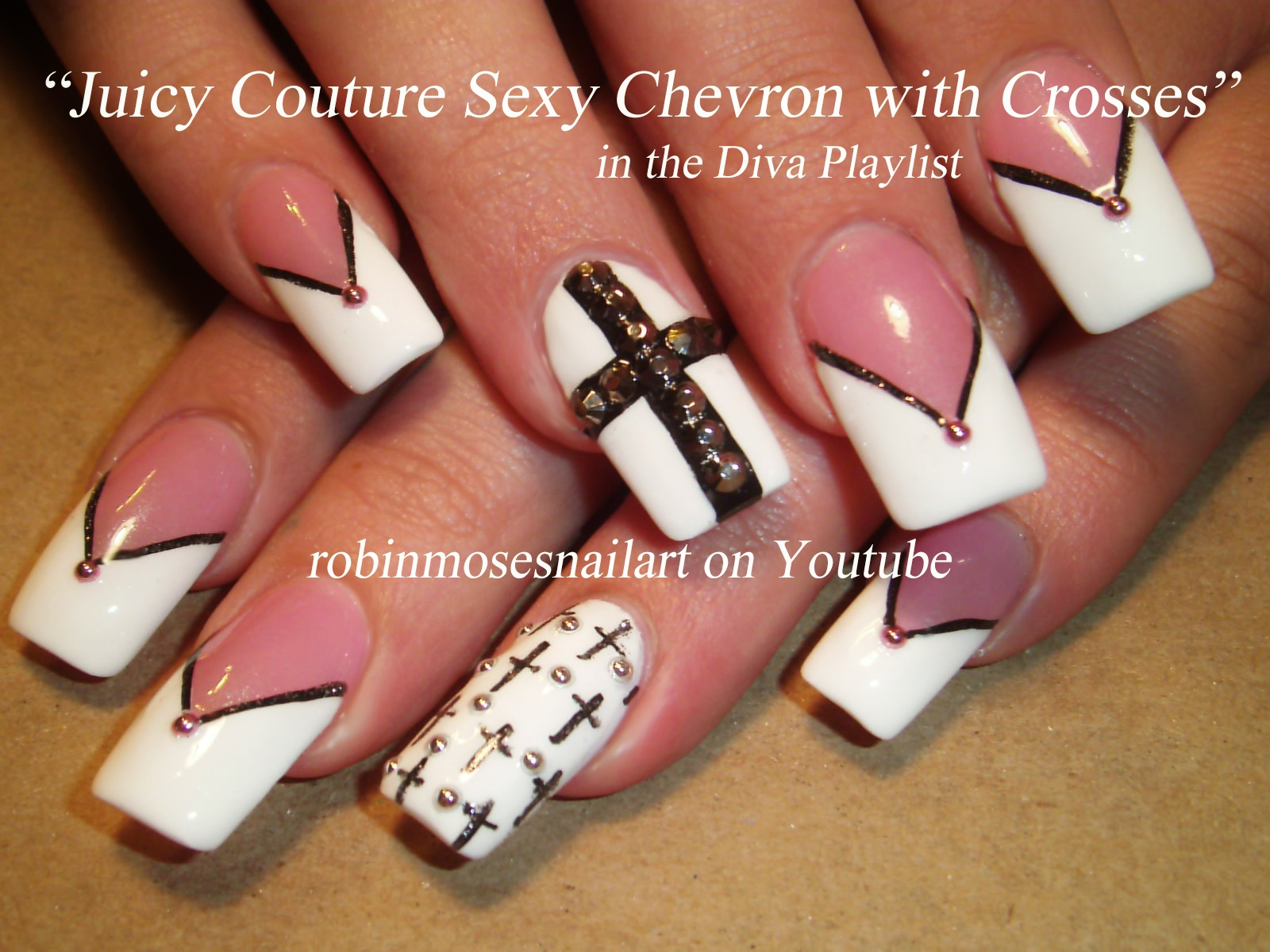 Red Black And White Nail Designs