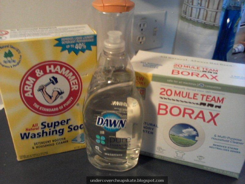 Clear Dye Free Homemade Laundry Detergent