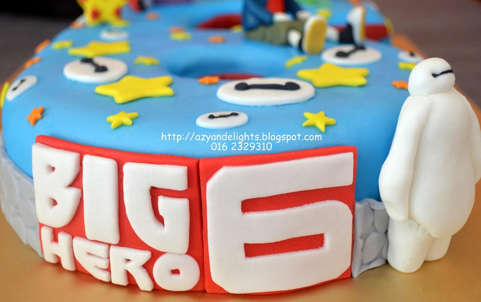Azyandelights Big Hero 6 Number 6 Cake