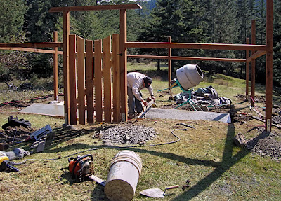 deer-proof garden fence, San Juan Island