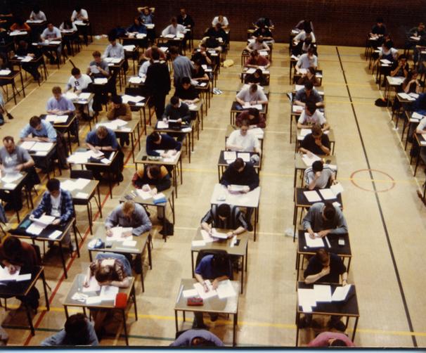school essay examination hall