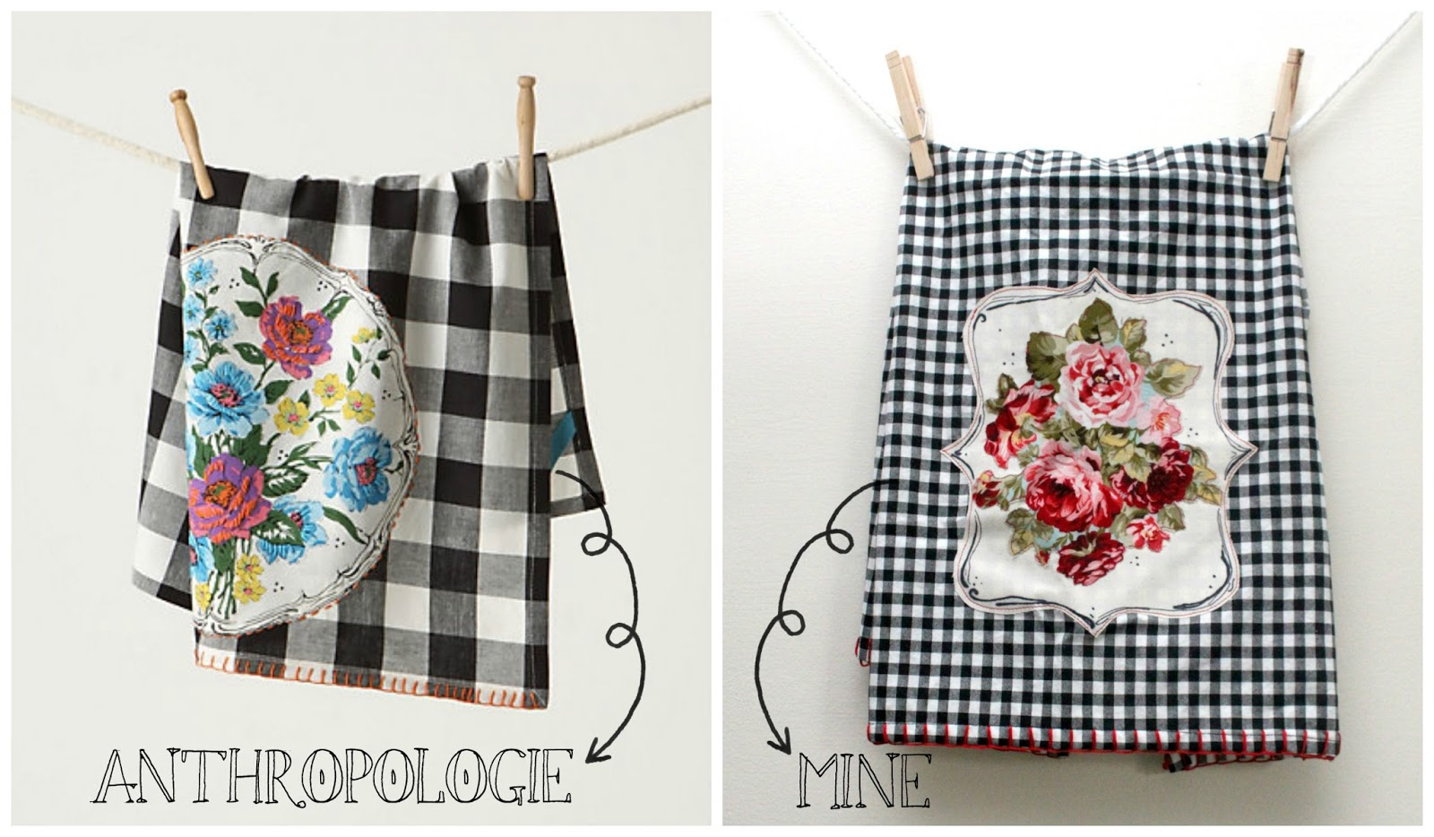 I Found These Adorable Towels On Anthropologie Awhile Ago (they Donu0027t Make  Them Anymore) And Fell In Love With The Gingham And Bold Floral Print, ...