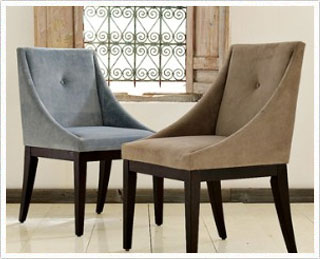 West Elm Curved Upholstered Chair Amis Inspire - Curved-upholstered-dining-chair